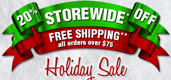 20% OFF STOREWIDE* & FREE SHIPPING all orders over $75