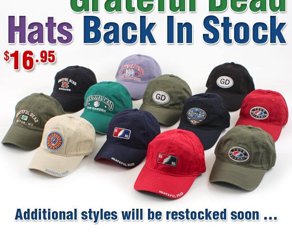 Grateful Dead Hats Back In Stock