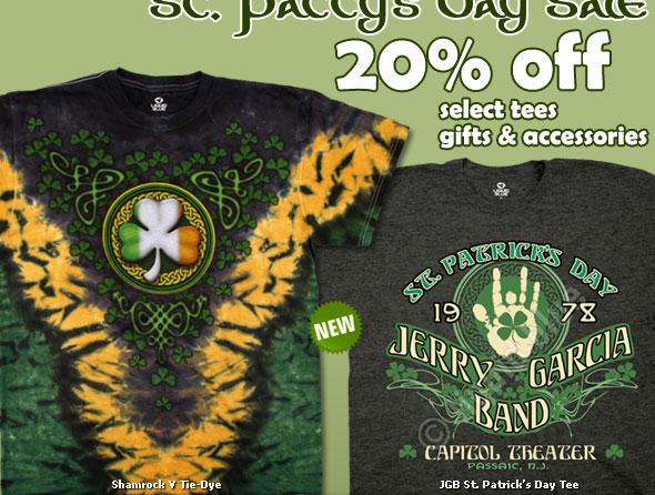 20% OFF St. Patricks Day Sale
