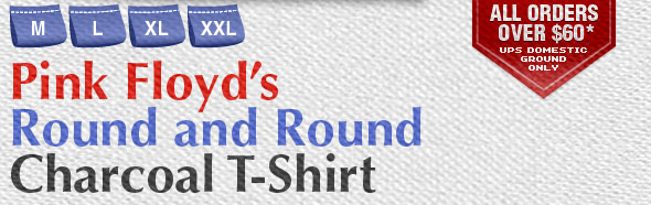 Pink Floyd's Round and Round Charcoal T-Shirt