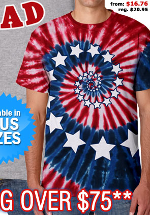 Stars and Stripes Spiral Tie Dye