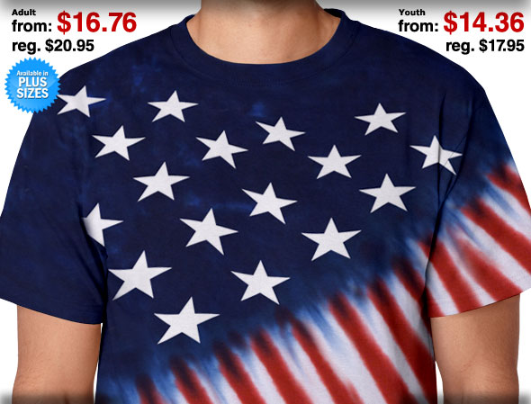 Stars & Stripes Adult / Youth Tie-Dye T-Shirts