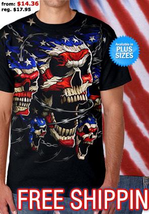 Patriotic Skulls Tee