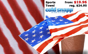 American Flag Sports Towel