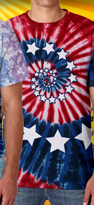 Stars And Stripes Sprial Tee