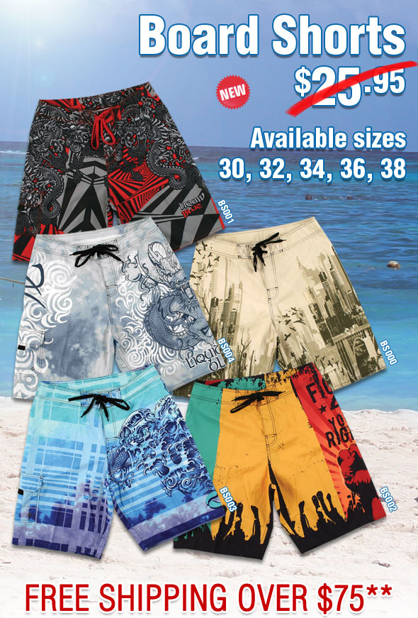 NEW Board Shorts - In Stock!