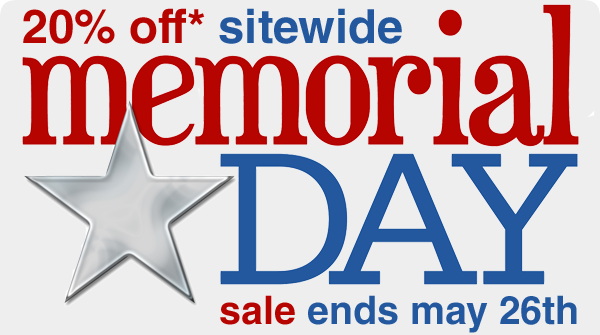 20% OFF* Sitewide Memorial Day Sale