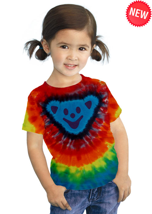 Bear Head Toddler Tie-Dye Tee