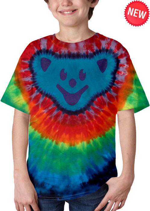 Bear Head Youth Tie-Dye Tee