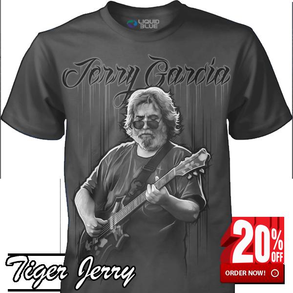 Jerry Garcia Tiger Jerry Grey T-Shirt