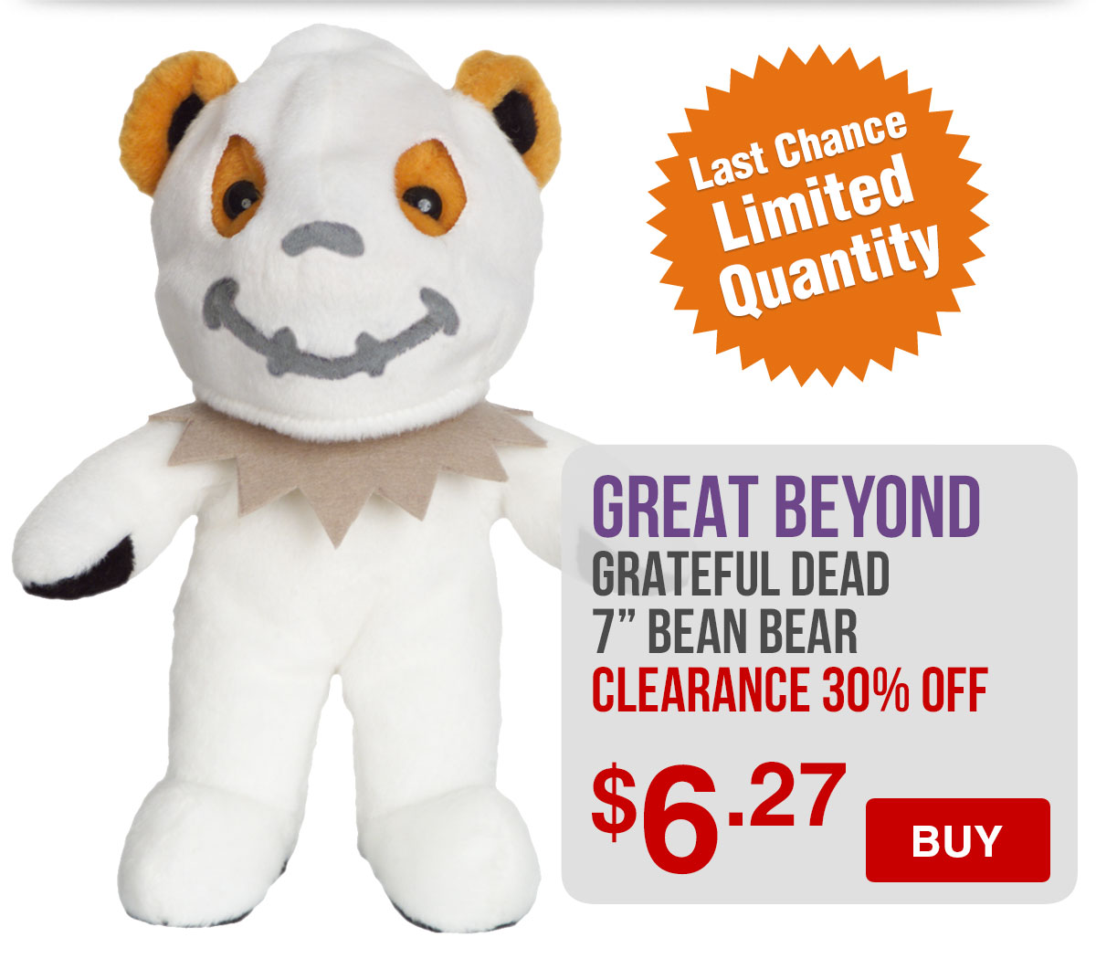 Grateful Dead Great Beyond Plush Bear