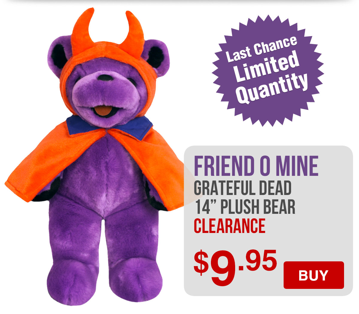 Grateful Dead Friend O Mine Plush Bear