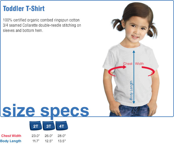Toddler T-Shirt Size Specifications